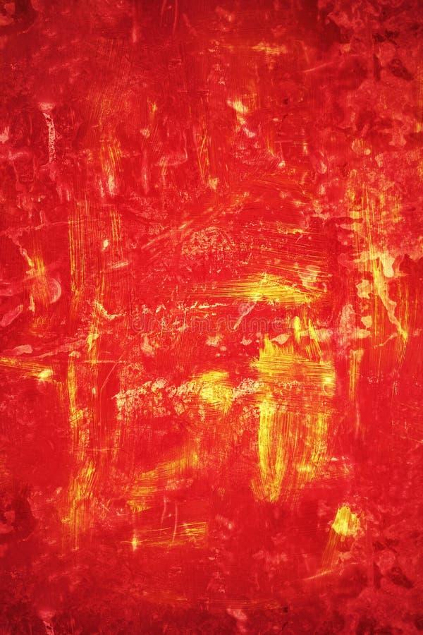Grungy czerwieni i pomarańcze tło ilustracja wektor