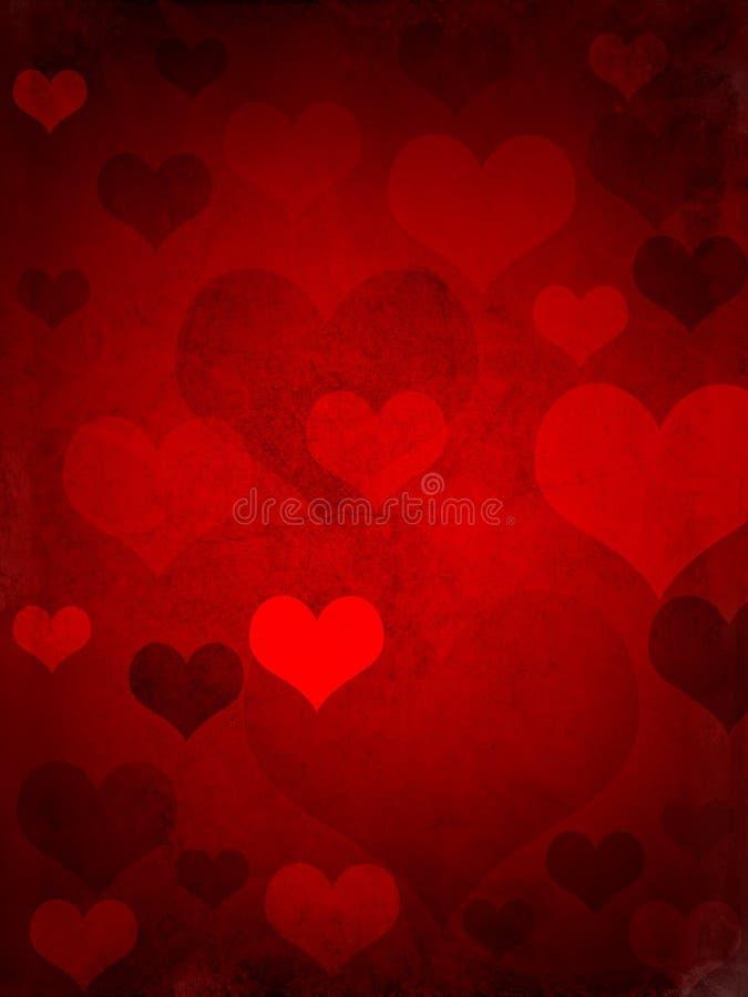 Grungy de harten van valentijnskaarten royalty-vrije stock fotografie