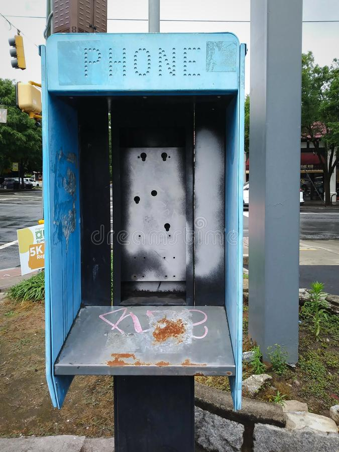 Grungy Decaying Pay Phone Rembours stock fotografie