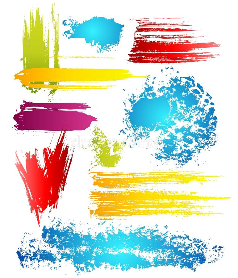 Grungy design elements. In different color vector illustration