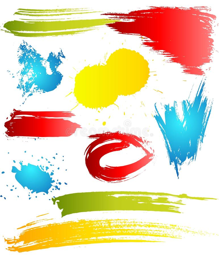 Grungy design elements. In different color for your artwork vector illustration