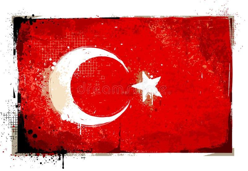 Grungy die Türkei-Flagge lizenzfreie abbildung