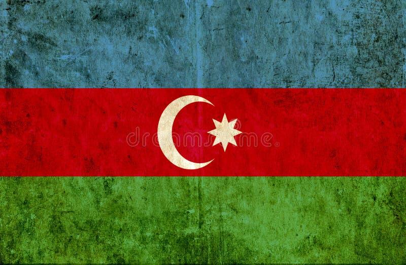 Grungy document vlag van Azerbeidzjan stock illustratie