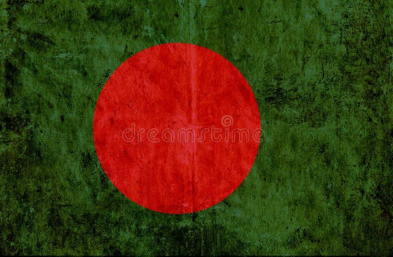 Grungy document vlag van Bangladesh royalty-vrije illustratie