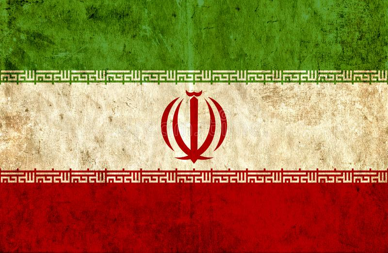 Grungy document vlag van Iran vector illustratie