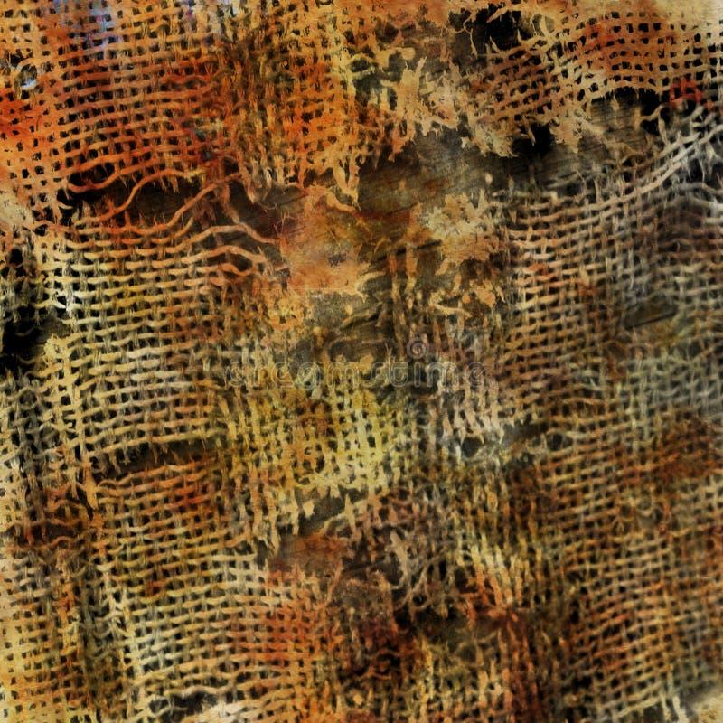 Grungy dunkler Hintergrund mit alter Gewebebeschaffenheit vektor abbildung