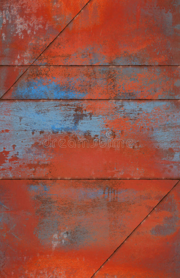 Grungy e Rusty Metal Background con le cuciture fotografia stock libera da diritti