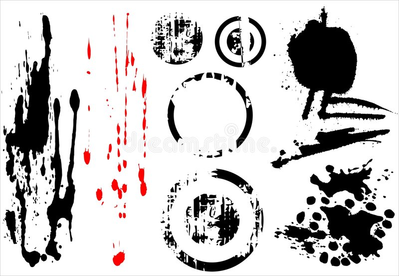 Grungy element. Grungy blobs and element, there is a vector royalty free illustration
