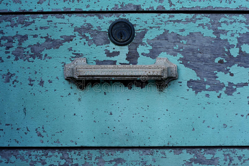 Grungy Fach mit gebrochener Farbe stockfotografie