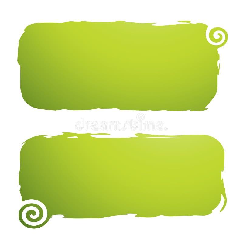 Grungy Fahnen mit Strudeln lizenzfreie abbildung