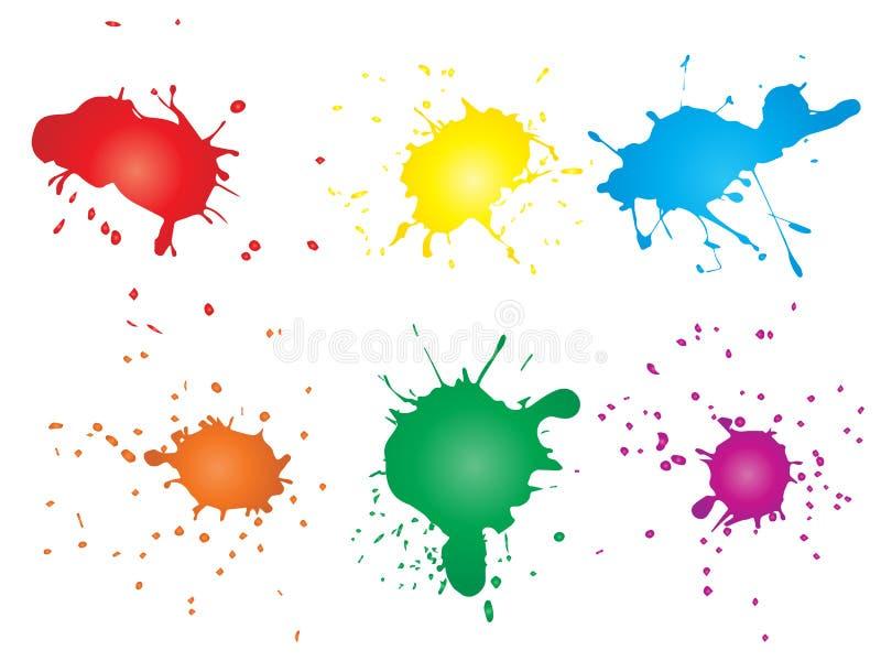 Grungy farby kropla, ręcznie robiony kreatywnie pluśnięcie royalty ilustracja