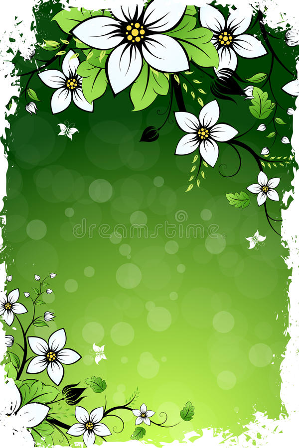 Download Grungy Flower Background stock vector. Image of stain - 26381916