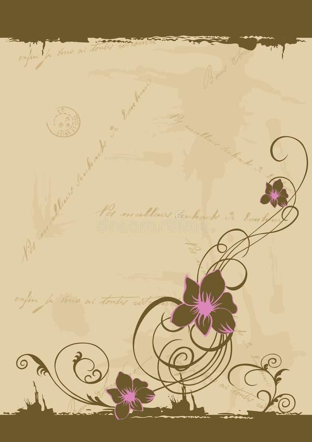 Grungy flowers stock illustration