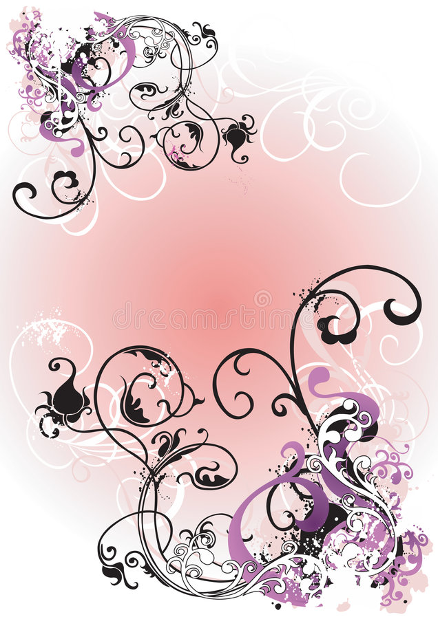 Download Grungy flowers stock vector. Image of flowers, stylish - 5340528