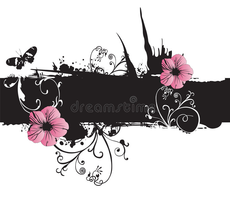 Grungy flowers vector illustration