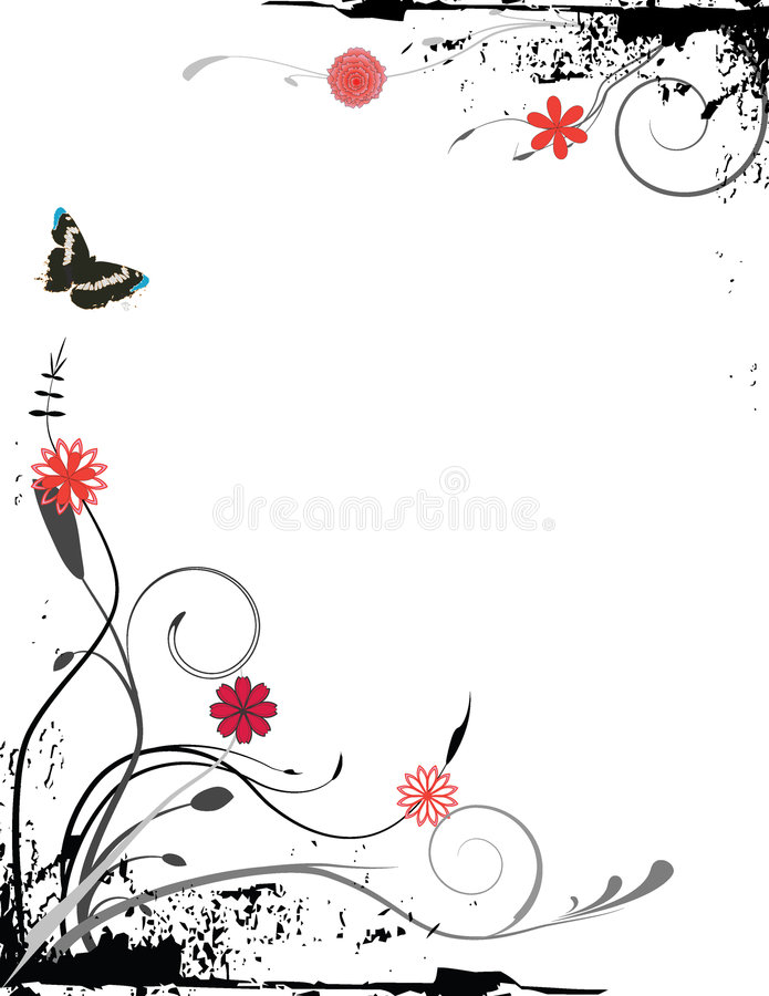 Download Grungy foliage stock vector. Image of plant, illustration - 4298853