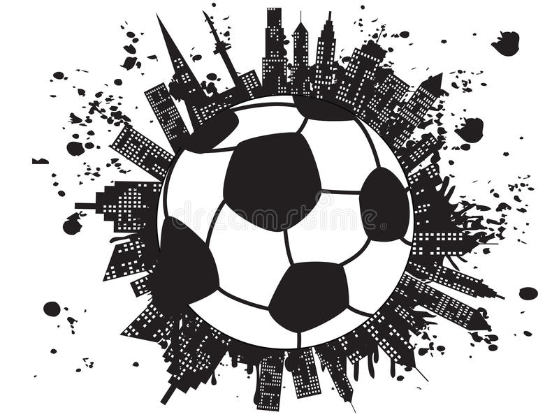 Grungy football city royalty free illustration