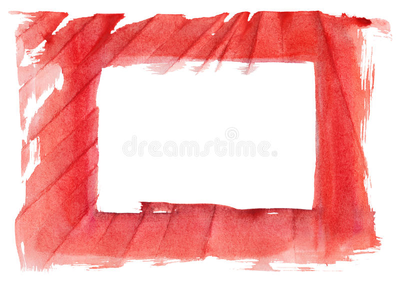 Grungy frame. On textured watercolor paper vector illustration