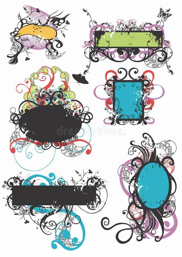 Grungy frames royalty free illustration