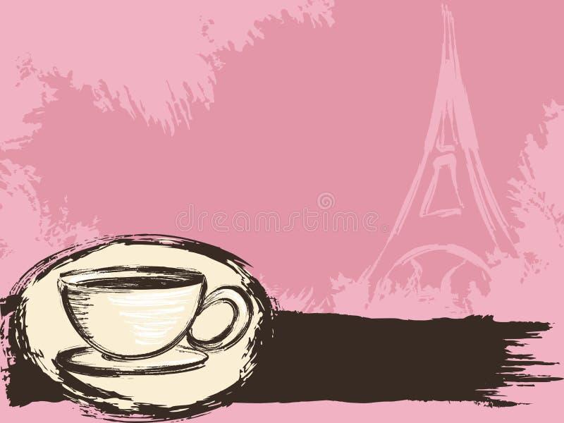 Grungy französischer Kaffeehintergrund vektor abbildung