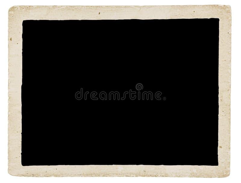 Grungy gammal nedfläckad och smutsig fotogräns arkivbilder
