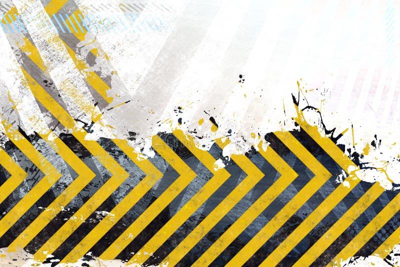 Grungy Gefahr-Streifen lizenzfreies stockbild