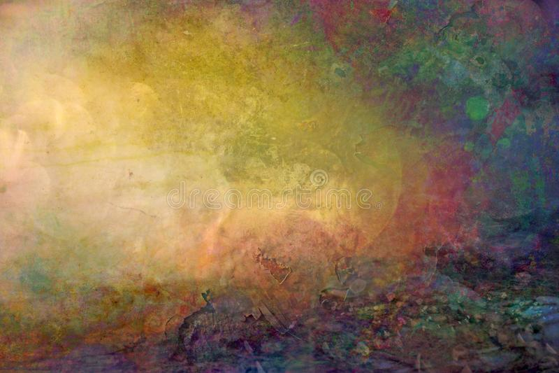 Grungy gekleurde backround textuur royalty-vrije illustratie