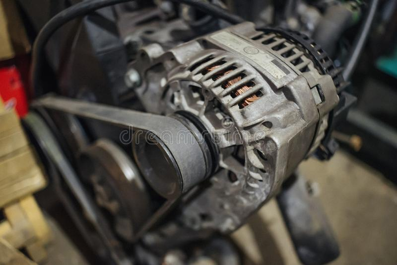 Grungy Generator auf Maschine stockfotografie