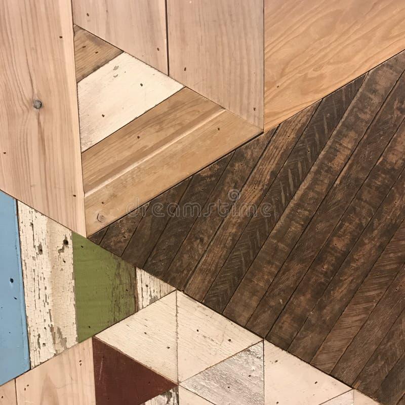 Grungy geweven geometrische houten textuur stock foto