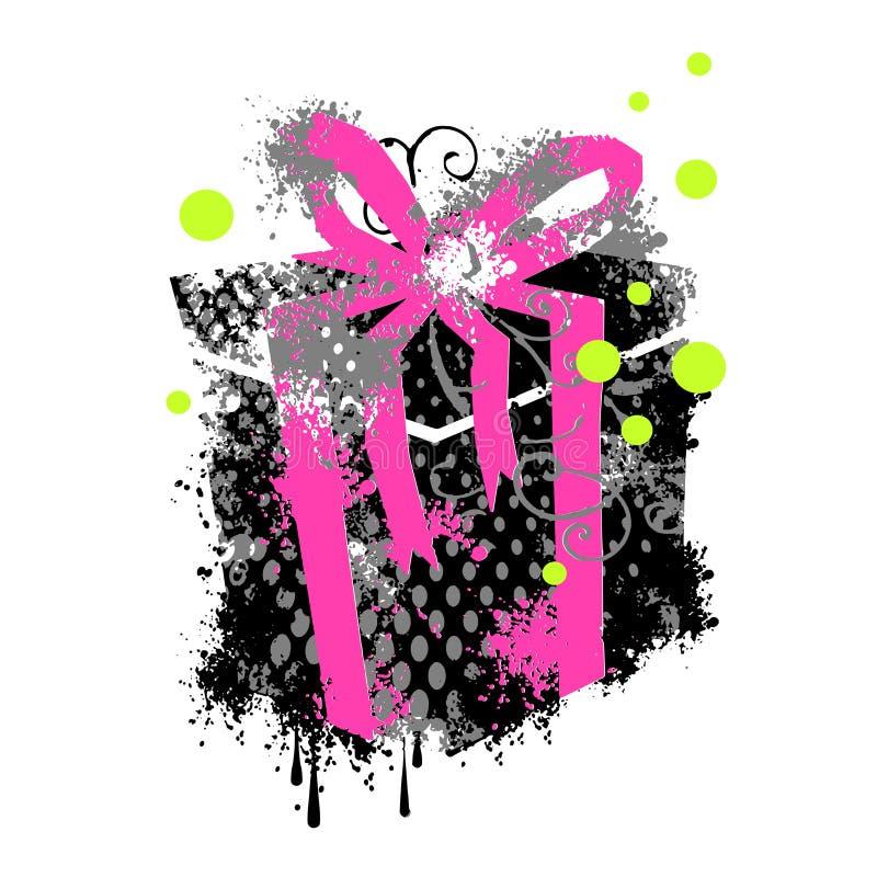 Grungy gift stock illustratie