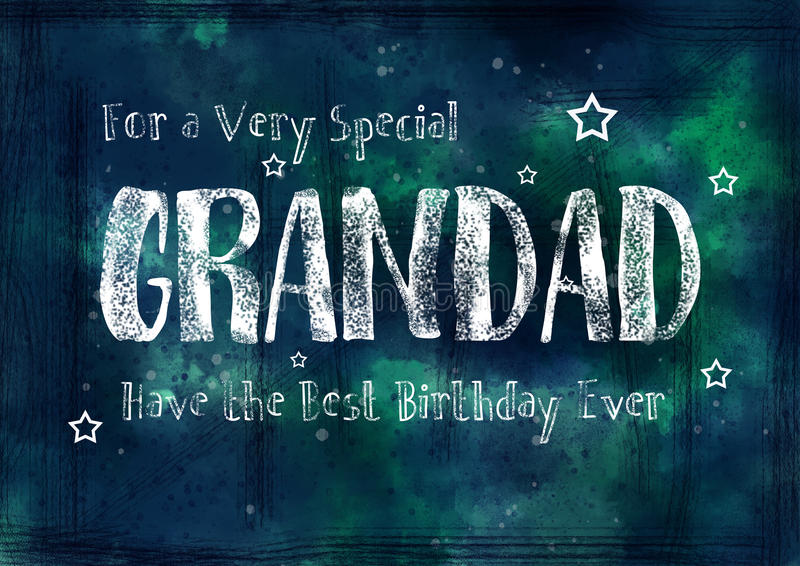 Grungy, Glückwunschkarte für Opa stock abbildung