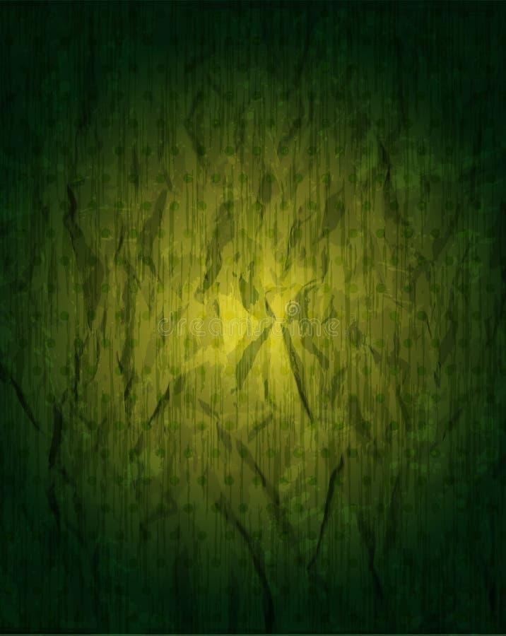 Grungy grüner Hintergrund der Weinlese lizenzfreie abbildung