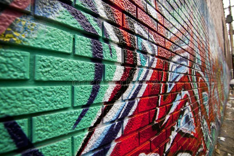 Grungy graffitied проход стоковое фото rf