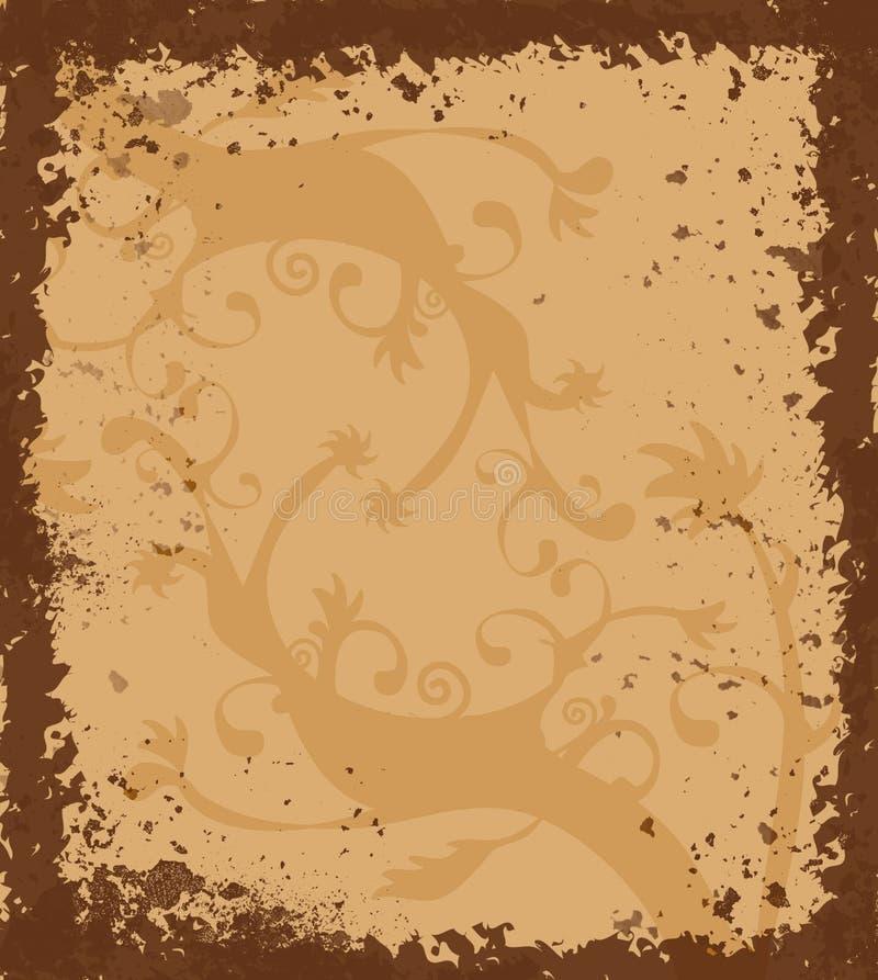 Grungy grens met Keltisch ornament royalty-vrije illustratie