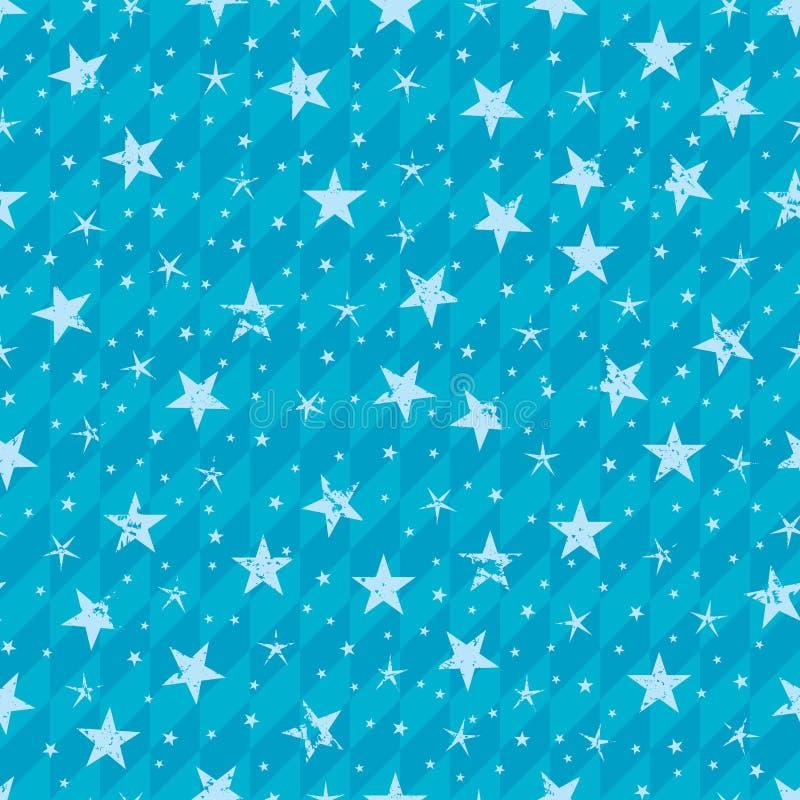 Grungy gwiazdowy bezszwowy wzór ilustracji