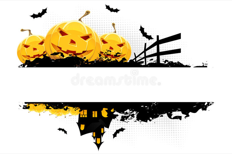 Grungy Halloween background stock photography