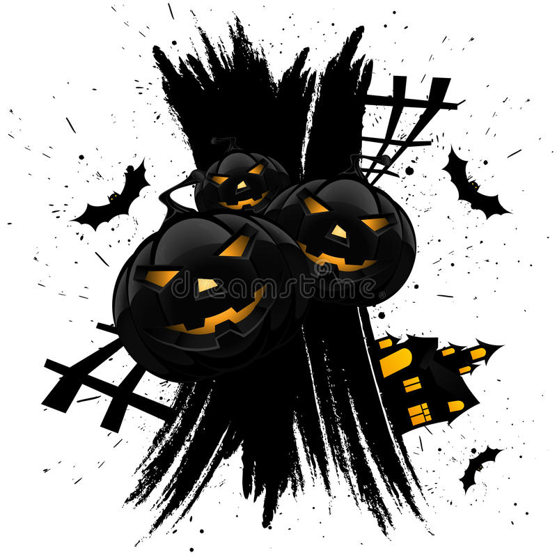 Download Grungy Halloween Background With Pumpkins Stock Vector - Illustration of background, artwork: 20771602