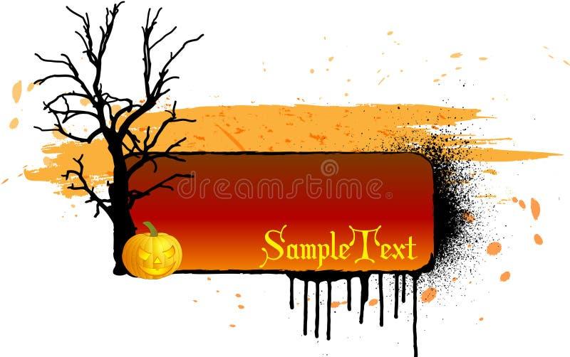 Grungy Halloween-Hintergrund vektor abbildung