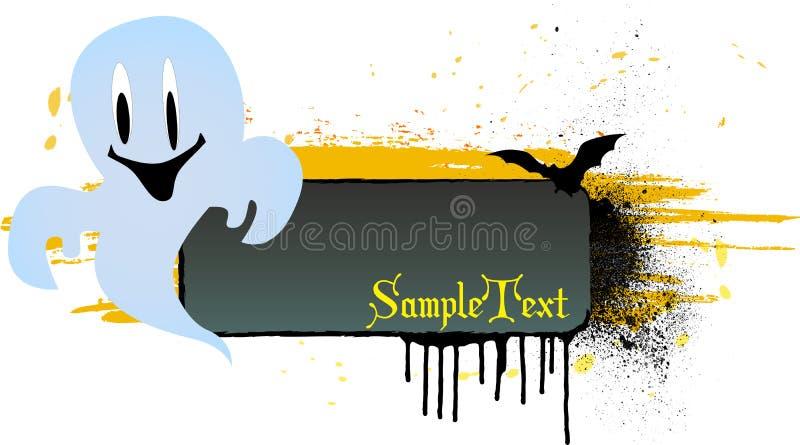 Grungy Halloween-Hintergrund lizenzfreie abbildung