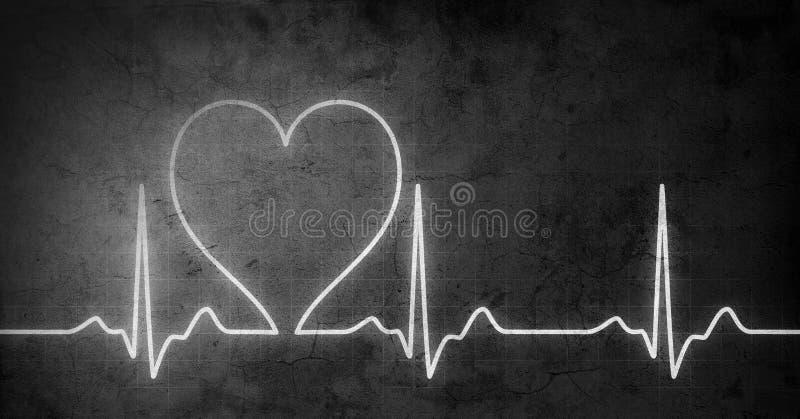 Grungy hart sloeg stock afbeelding