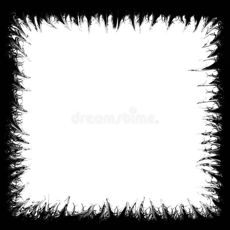Grungy heavy metal border vector illustration