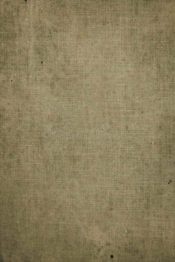 Grungy hessian background. Old an old grungy hessian book cover background royalty free stock photos