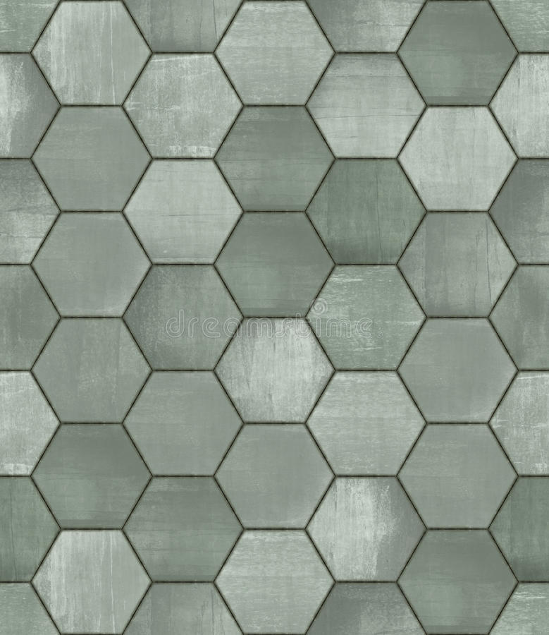 Grungy Hexagonal Tiled Seamless Texture royalty free stock image