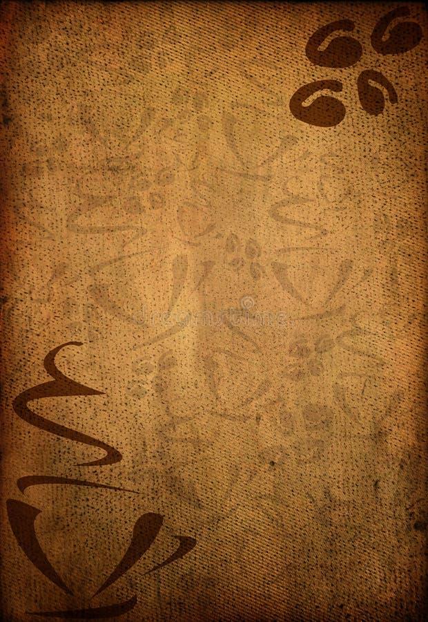 Grungy Hintergrund des Kaffees stock abbildung