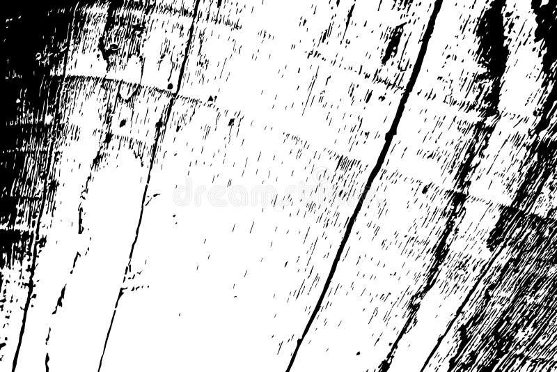 Grungy houten textuur Doorstane drijfhout zwart-witte textuur Ruwe houten raadsoppervlakte stock illustratie