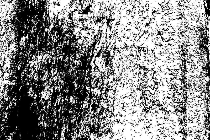 Grungy houten textuur Ruwe hout zwart-witte textuur De subtiele oppervlakte van de boomschors stock illustratie