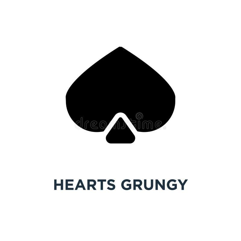 grungy Ikone der Herzen Sammlung handgemachten Ikonenkonzeptes s des Herzens stock abbildung