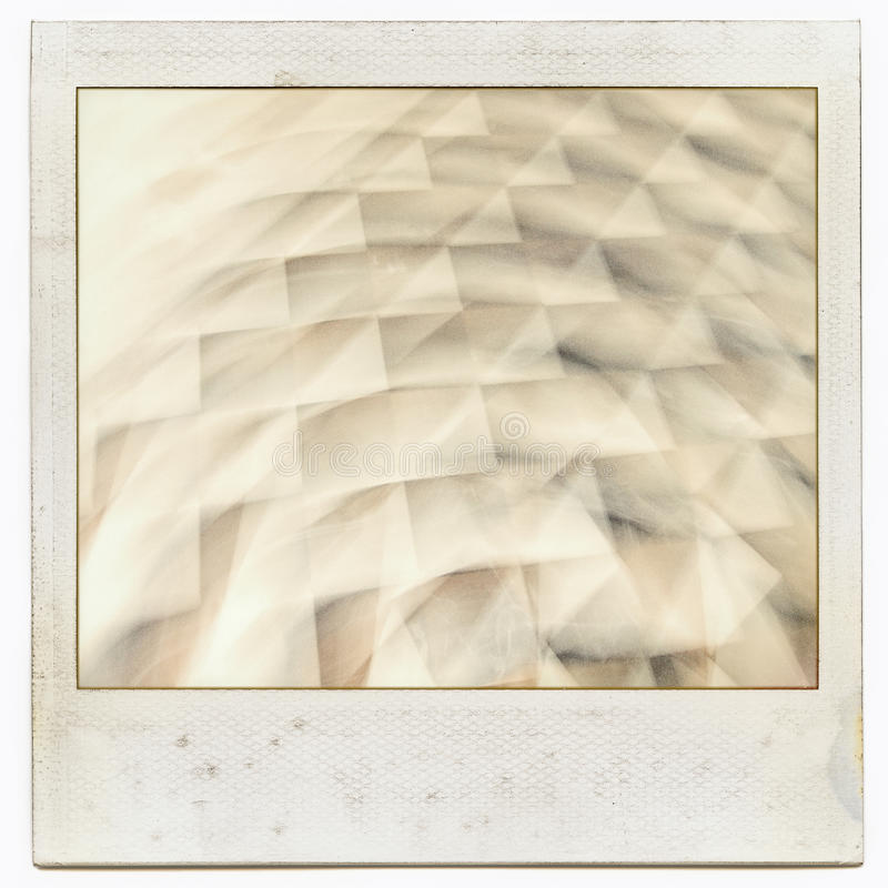 Grungy instant film frame with abstract filling royalty free stock image