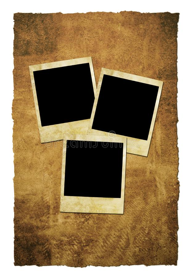 Grungy Instant Film Frames Free Stock Photography