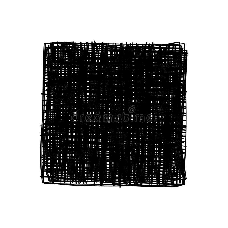 Grungy klottra fyrkanten vektor illustrationer